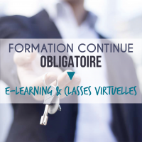 Formation obligatoire des professionnels de l'immobilier - E-learning (8H) et classes virtuelles (6H)