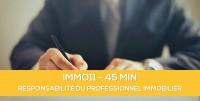 E-learning : IMMO11 Responsabilité du professionnel de l'immobilier