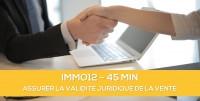 E-learning ALUR: IMMO12 Assurer la validité juridique de la vente