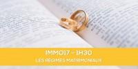 E-learning ALUR: IMMO17 Les régimes matrimoniaux