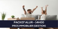E-learning : PACK07 ALUR - Professionnel Immobilier à distance en ligne (Gestion 14H)