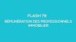 Flash-learning 79 : Rémunération des professionnels immobilier