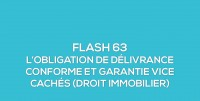 Flash-learning 63 : L'obligation de délivrance conforme et garantie des vices cachés