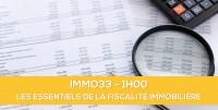 E-learning ALUR : IMMO33 Les essentiels de la fiscalité immobilière