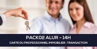 E-Learning ALUR : PACK02 Carte du professionnel immobilier (TRANSACTION - 14H)