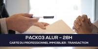 E-Learning ALUR : PACK03 Carte du professionnel immobilier (TRANSACTION - 28H)