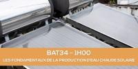 E-learning BAT34 : Les fondamentaux de la production d'eau chaude solaire