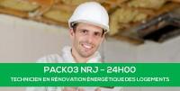 E-learning PACK03 NRJ : Technicien en rénovation énergétique des logements