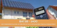 E-learning BAT38 - Les fondamentaux de l'étude de prix et du chiffrage des travaux de bâtiment